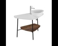 """62581 - """"Plural Ceramic Counter, 100 cm, Matte White, right"""""""