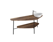 "64041 - ""Plural Big Countertop, 160 cm, American Walnut, right"""