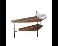 "64041 - ""Plural Big Countertop, 160 cm, American Walnut, right"""