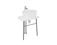 "64049 - ""Plural Free-Standing Washbasin Unit, 70 cm, Low, White"""