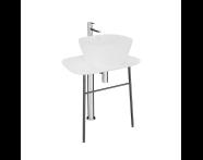 "64049 - ""Plural Free-Standing Washbasin Unit, 70 cm, Low, White"""
