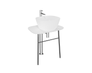 "64050 - ""Plural Free-Standing Washbasin Unit, 70 cm, Low, Matte White"""