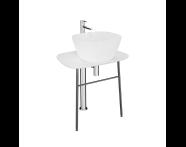 "64050 - ""Plural Free-Standing Washbasin Unit, 70 cm, Low, Matte White"""