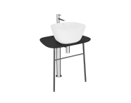 "64051 - ""Plural Free-Standing Washbasin Unit, 70 cm, Low, Matte Black"""