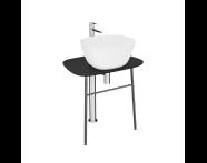 "64051 - ""Plural Free-Standing Washbasin Unit, 70 cm, Low, Matte Black"""