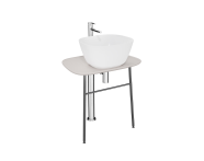 "64052 - ""Plural Free-Standing Washbasin Unit, 70 cm, Low, Matte Taupe"""
