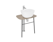 "64053 - ""Plural Free-Standing Washbasin Unit, 70 cm, Low, Matte Mink"""