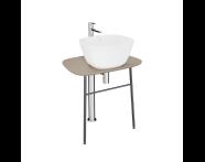 "64053 - ""Plural Free-Standing Washbasin Unit, 70 cm, Low, Matte Mink"""