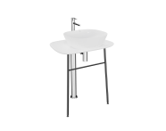 "64054 - ""Plural Free-Standing Washbasin Unit, 70 cm, High, White"""