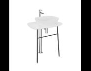 "64054 - ""Plural Free-Standing Washbasin Unit, 70 cm, High, White"""