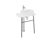 "64055 - ""Plural Free-Standing Washbasin Unit, 70 cm, High, Matte White"""