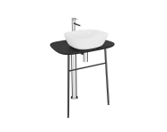 "64056 - ""Plural Free-Standing Washbasin Unit, 70 cm, High, Matte Black"""