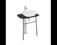 "64056 - ""Plural Free-Standing Washbasin Unit, 70 cm, High, Matte Black"""
