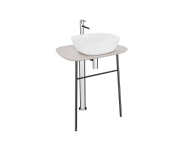 "64057 - ""Plural Free-Standing Washbasin Unit, 70 cm, High, Matte Taupe"""