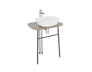 "64058 - ""Plural Free-Standing Washbasin Unit, 70 cm, High, Matte Mink"""