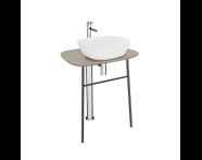 "64058 - ""Plural Free-Standing Washbasin Unit, 70 cm, High, Matte Mink"""
