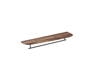 "64062 - ""Plural Long Shelf, 75 cm, with Metal Towel Holder, American Walnut, left"""