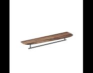 "64062 - ""Plural Long Shelf, 75 cm, with Metal Towel Holder, American Walnut, left"""
