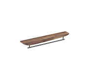 "64063 - ""Plural Long Shelf, 75 cm, with Metal Towel Holder, American Walnut, right"""
