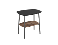"64066 - ""Plural Small Table, 55 cm, with Matte Black, American Walnut"""