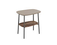 "64068 - ""Plural Small Table, 55 cm, with Matte Mink, American Walnut"""