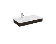 "64086 - ""Equal Washbasin Unit, 100 cm, with Asymmetric Washbasin, Elm"""