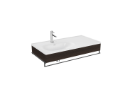 "64089 - ""Equal Washbasin Unit, 100 cm, with Asymmetric Washbasin, with Towel Holder, Elm"""