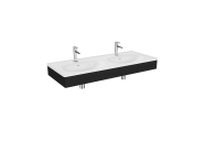 "64094 - ""Equal Washbasin Unit, 130 cm, with Double Washbasin, Patterned Black Oak"""