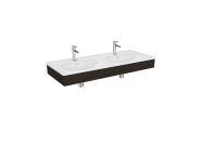 "64095 - ""Equal Washbasin Unit, 130 cm, with Double Washbasin, Elm"""