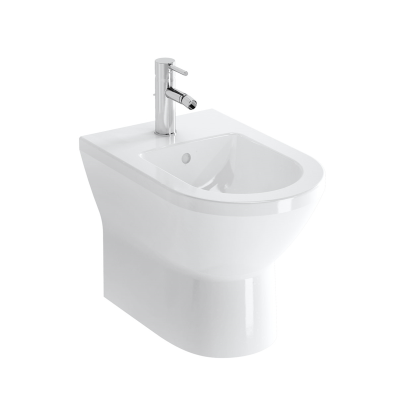 Floor Standing Bidet, Back-To-Wall, 54 cm, One Tap Hole, Without Side Holes
