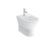 7039B003-0290 - Floor Standing Bidet, Back-To-Wall, 54 cm, One Tap Hole, With Side Holes