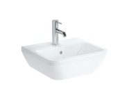 7047B003-0001 - Square Washbasin, 45 cm, One Tap Hole, With Overflow Hole