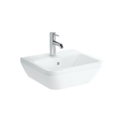 Square Washbasin, 45 cm, One Tap Hole, With Overflow Hole