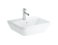 7048B003-0001 - Square Washbasin, 50 cm, One Tap Hole, With Overflow Hole