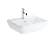 7049B003-0001 - Square Washbasin, 55 cm, One Tap Hole, With Overflow Hole