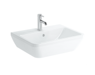 7050B003-0001 - Square Washbasin, 60 cm, One Tap Hole, With Overflow Hole