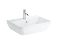 7051B003-0001 - Square Washbasin, 65 cm, One Tap Hole, With Overflow Hole