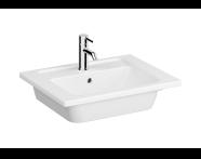 "7055B003H0001 - ""Integra Vanity basin, one faucet hole, overflow hole, 60 cm"""