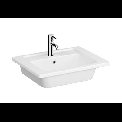 """Integra Vanity basin, one faucet hole, overflow hole, 60 cm"""
