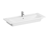 7058B003-1474 - Vanity Basin, 120 cm, Two Tap Holes, With Overflow Hole