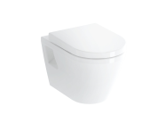 7064B003-0075 - Wall-Hung WC Pan, Flach, 54 cm, Without Side Holes