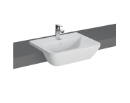 """7069B403-0001 - """"Integra, Semi-recessed basin 55 cm, Semi-recessed basin, With tap hole, with overflow hole, with VitrA Clean"""""""