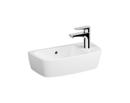 7070B003-0029 - Compact Basin, 50X25 cm, One Tap Hole On Right, With Overflow Hole