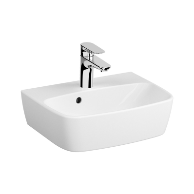 Compact Basin, 45 cm, One Tap Hole, With Overflow Hole