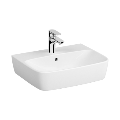 Washbasin, 55 cm, One Tap Hole, With Overflow Hole