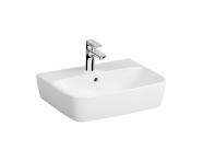 7076B003-0973 - Washbasin, 55 cm, One Tap Hole, With Overflow Hole, For Countertop Use