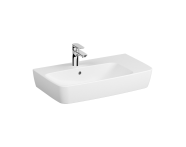 7079B003-0001 - Assymetrical Basin, 75X45 cm, One Tap Hole, With Overflow Hole