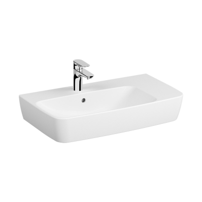 Assymetrical Basin, 75X45 cm, One Tap Hole, With Overflow Hole