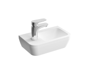"""7090L003-0028 - """"Integra, Compact washbasin with left faucet area Compact washbasin with left faucet area, With tap hole, with overflow hole"""""""