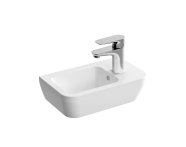 """7091L003-0012 - """"Integra, Compact washbasin with right faucet area Compact washbasin with right faucet area, Without tap hole, with overflow hole"""""""